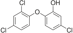 chemical structure of Triclosan